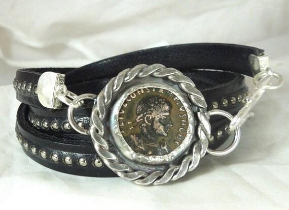 RESERVED FOR SUERoman Coin Wrap Bracelet
