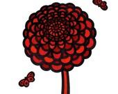 Red flower giclee print by Matthew Porter
