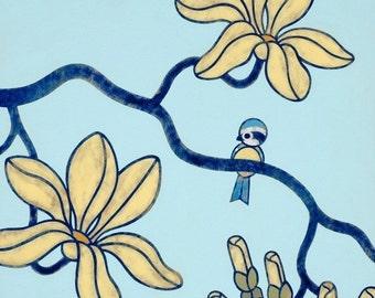 Birdie and Branch 8x10 Art Print