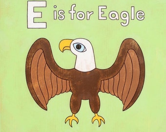 E is for Eagle 8x10 Art Print