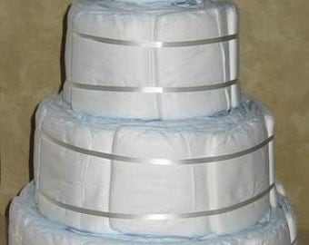 PAMPERS DIY 4 tier Undecorated Designer Diaper Cake for Baby Shower Gift Boy or Girl Plain 80 Diapers