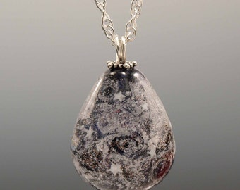 Large Teardrop -- Glass Memorial Bead