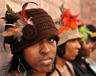 Brown Cloche Hat