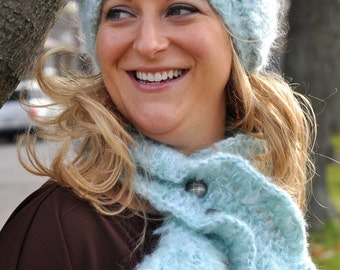 Blue Hat and Neckwarmer