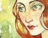 She was Like a Rare Flower in the Morass -- ACEO Limited Edition Print by Amy Abshier Reyes 27/30