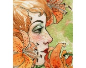 "ACEO  ""Lilies"" Limited Edition Print by Amy Abshier Reyes 24/30"