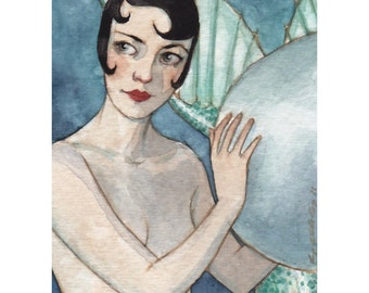 Undersea Frivolity -- ACEO Limited Edition Print by Amy Abshier Reyes 2/50