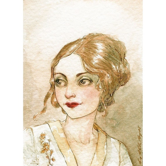 She was Like a Queen in Her Palace -- ACEO Limited Edition Print by Amy Abshier Reyes 24/30