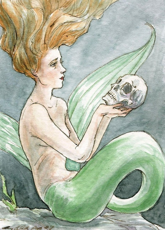 Of His Bones Are Coral Made -- ACEO Limited Edition Print by Amy Abshier Reyes 23/30
