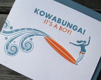Kowabunga Baby Boy Card