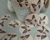 Paper garland, FRENCH BUTTERFLY, Garland, Mobile, Wedding garland, eco-friendly, vintage gift or decoration