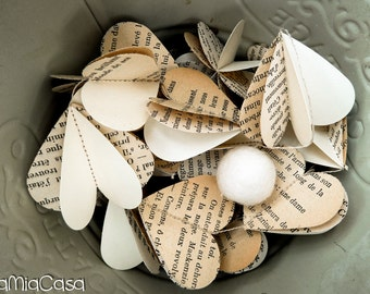 Rustic wedding decor, Off white wedding, Summer party, French theme, French book, French teacher gift, Bridal shower decorations rustic