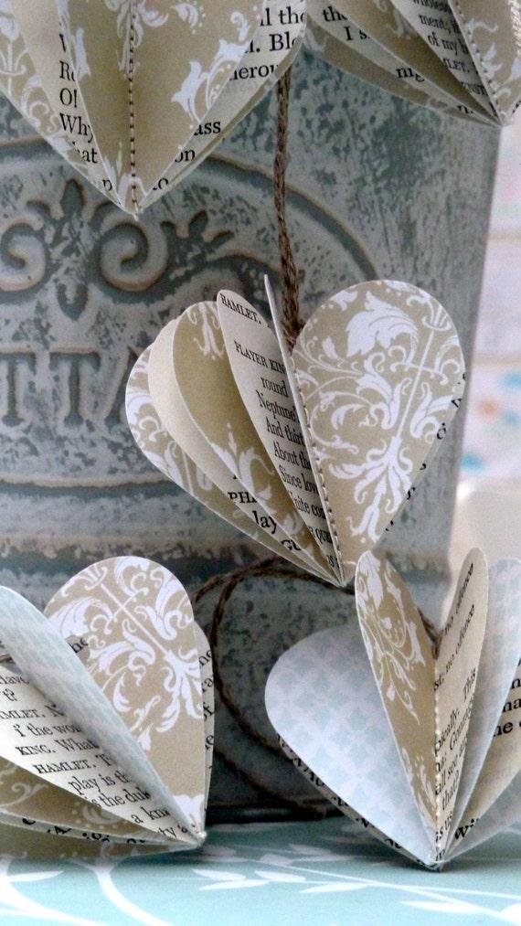Wedding decor, rustic wedding, romatic wedding, home decor, garland, party decor, table decor, paper baubles, Christmas ornament