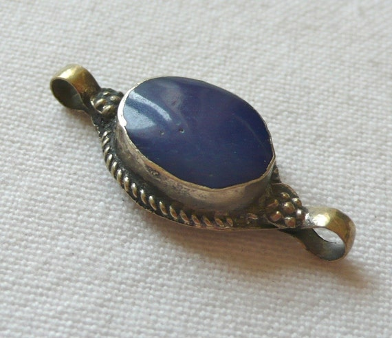 Blue Lapis Ethnic Connector Pendant