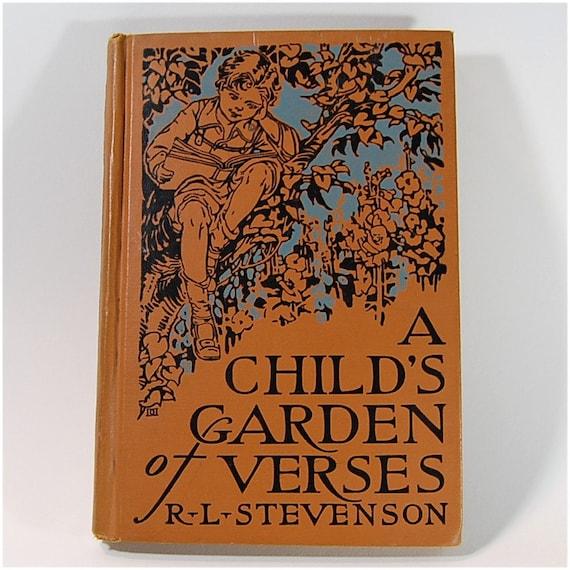 """1928 book """"A Child's Garden Of Verses"""" by Robert Louis Stevenson"""