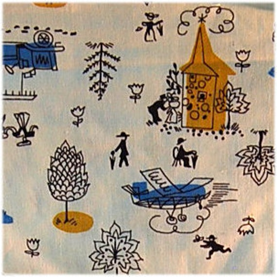 Vintage Cotton Fabric 38 by 28 inches