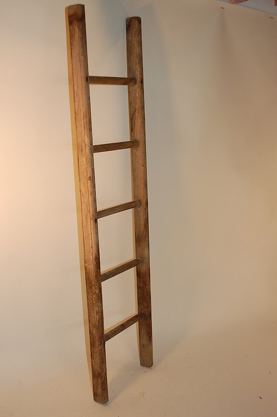 Vintage Small Wooden Ladder 27 Inches High