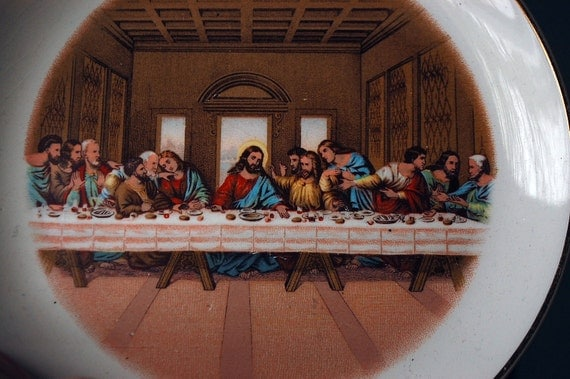 Items Similar To Last Supper Plate Vintage Home Decor On Etsy