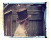 Brad in Hat - Original Polaroid Transfer FREE Shipping in USA