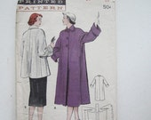 Vintage Misses Loose Fitting Coat PATTERN Size 16