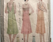 Vintage 1932 Ladies and Misses Princess Slip PATTERN Size 38