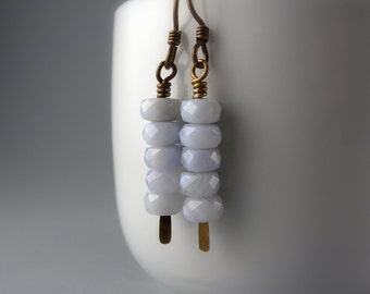 Baby Blue Stack Up Earrings with Free USA Shipping