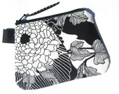 Black Mums - Mini Zippy Zipper Pouch - Perfect for electronic gizmos, makeup, money, business cards . . .