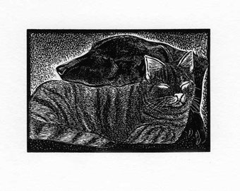 Peace wood engraving