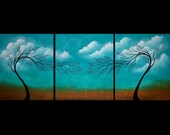 SALE - Original Contemporary Abstract Tree Painting by Jaime Best - Dreams - Huge 20X48