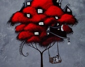 Tree House Fantasy Art Print - For the rest of our days by Jaime Best