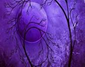 Modern Purple Moon Tree Print - Until My Dying Day by Jaime Best