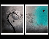 Sad Surreal Tree 8X10 Print Set - Heartache and Poetry 53 by Jaime Best