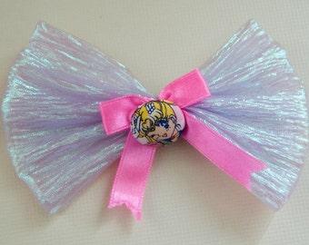 Super cute sailor moon button hair bow