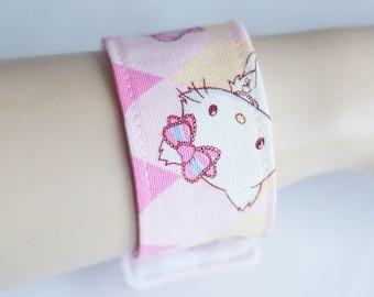Charmy hello kitty fabric cuff