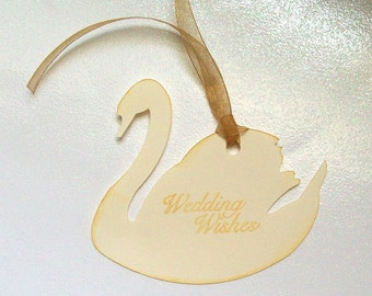 Wedding Wishing Tree Tags - Golden Swan (set of 50)
