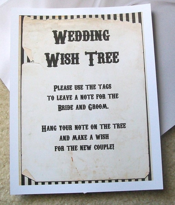Wedding Money Gift Guidelines : Items similar to Wishing Tree Tags - Instructions Sign - Customize For ...