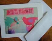 BELIEVE note card set