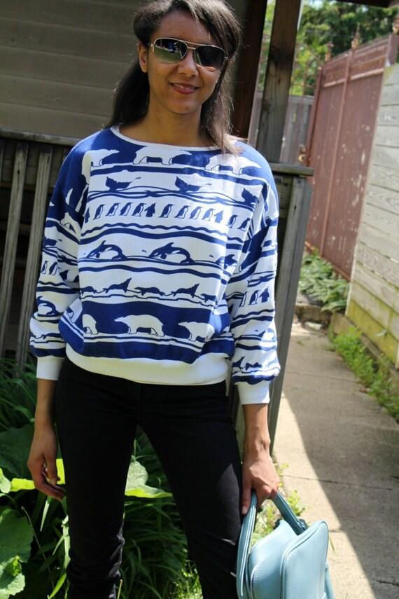 Vintage WWF Arctic Animal Sweater