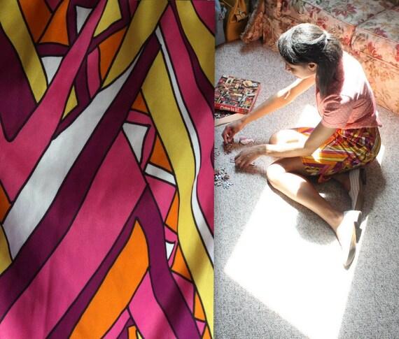on sale. 1970's Mosaic Skirt