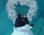 Scarlett and Rhett Gone with The Wind wedding or engagement cake topper