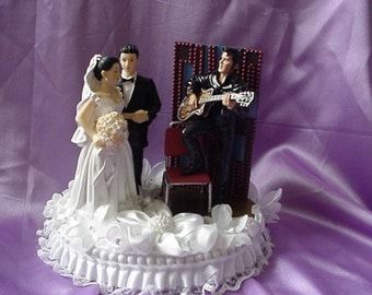 Elvis Wedding Cake Topper Musical Are You Lonesome Tonight