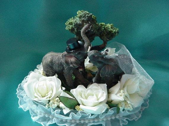 Elephant Wedding Cake Topper By Cinhol On Etsy