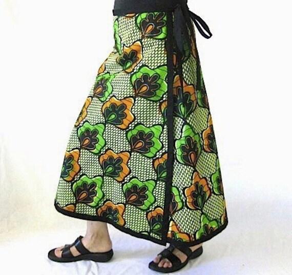 Women's Long African Wrap Skirt - M L XL