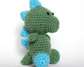 Amigurumi Green and Blue Dinosaur
