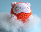 Amigurumi Orange and White Sleeping Hamster Squishling
