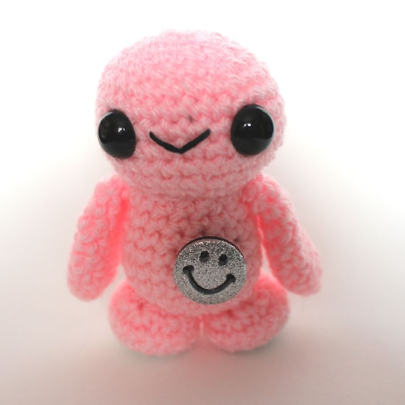 Amigurumi Pink Alien from Planet Happy