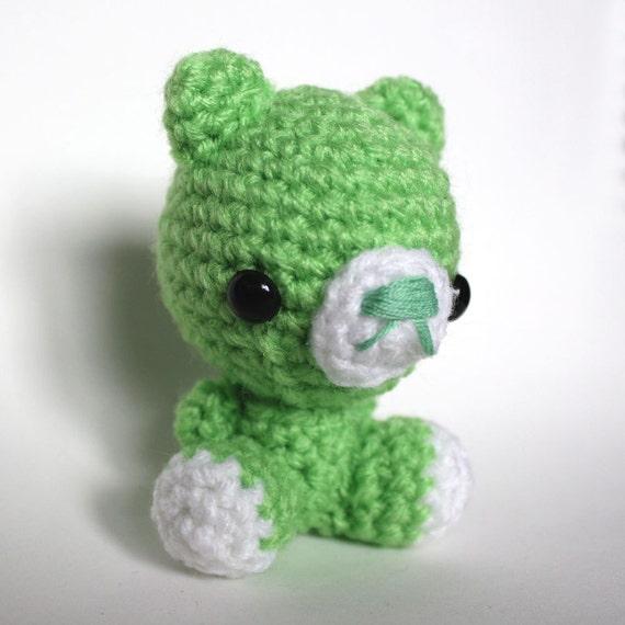 Amigurumi Kawaii Green Bear