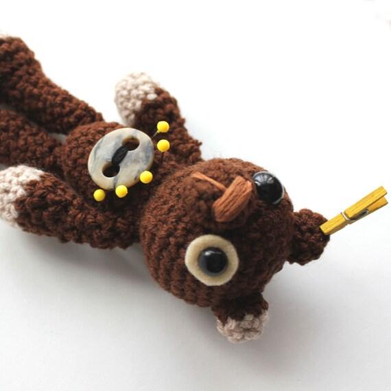 Amigurumi Dark Brown Voodoo Bear