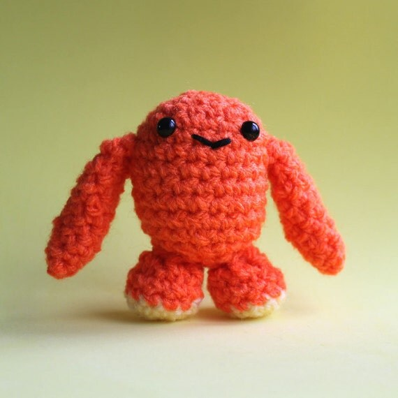 Amigurumi Orange Baby Mini Monster