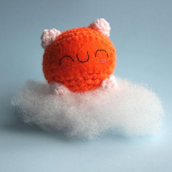 Reserved for kittypinkstars - Amigurumi Orange Ethel Sleeping Hamster Squishling